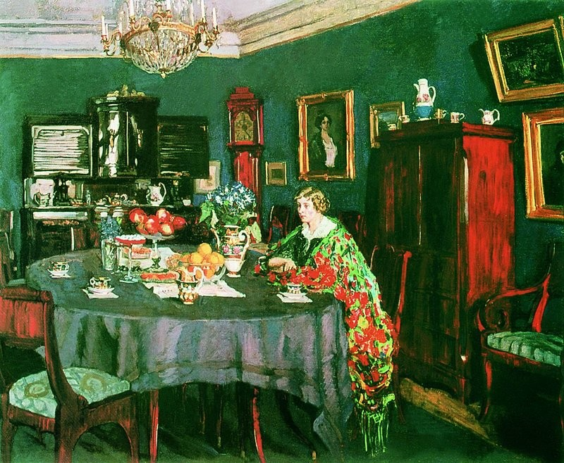 At the table, Stanislav Zhukovsky - Date unknown